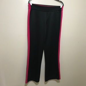 Athletic Works Pink & Black Workout Trousers Sz M